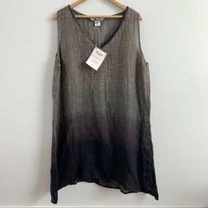 Flax | NWT Gauze Ombré Sleeveless Dress Large